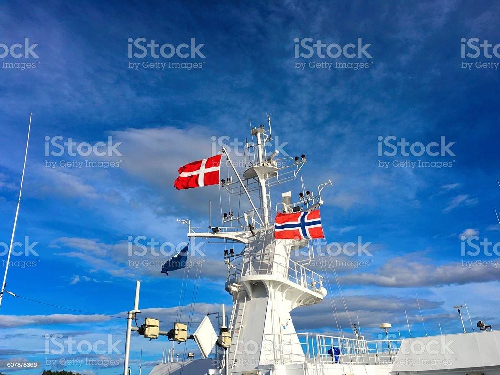 Norwegian and Danish flag. photo libre de droits