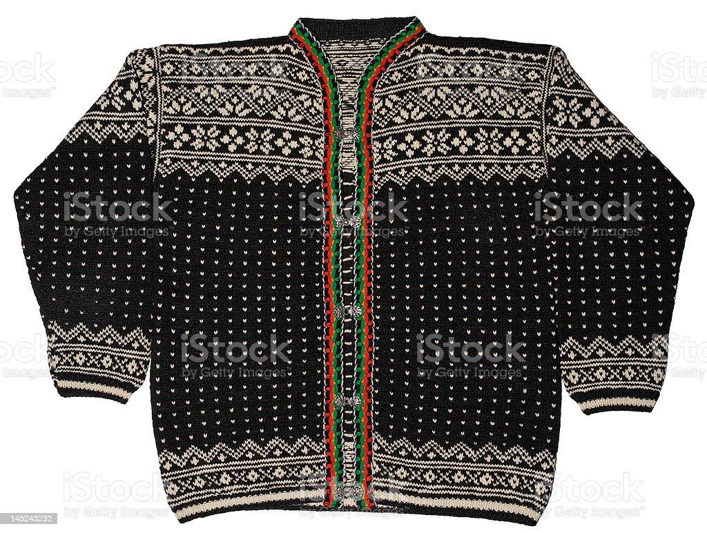 Norwegian Black Sweater stock photo