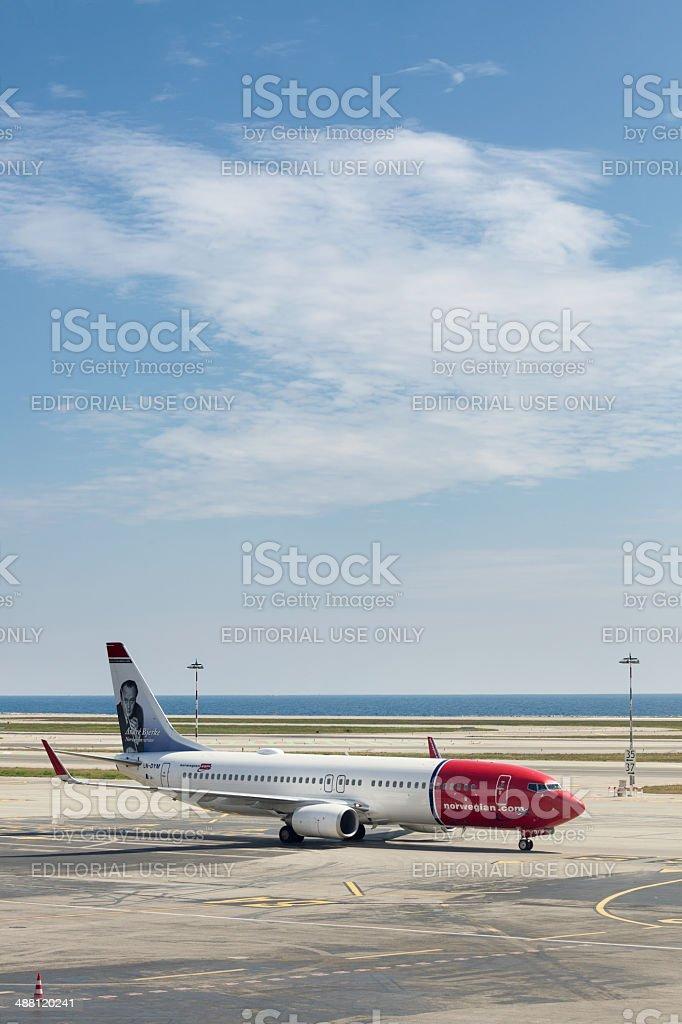 Norwegian Boeing 737-800 stock photo