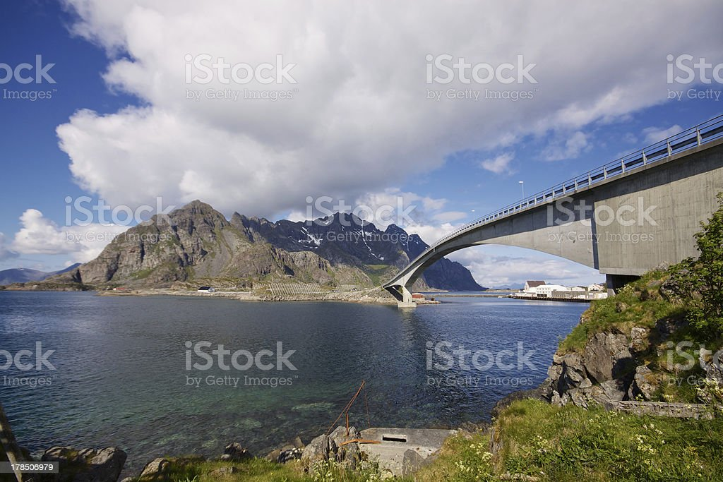 Norwegian bridge royalty-free stock photo