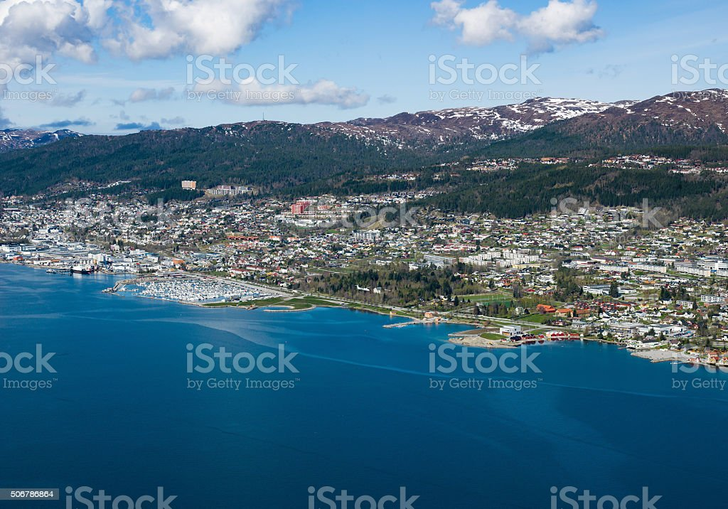 Norwegian City, Molde stock photo