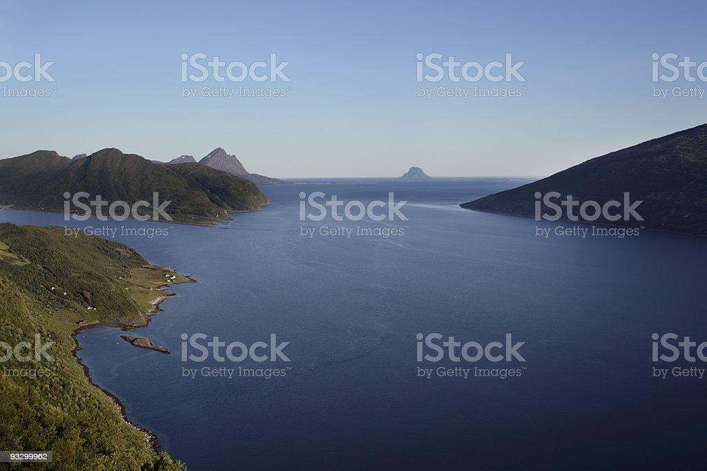 Norwegian coastline with archipelago royalty-free stock photo