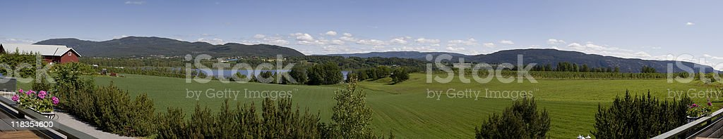 Norwegian Countryside Panorama royalty-free stock photo