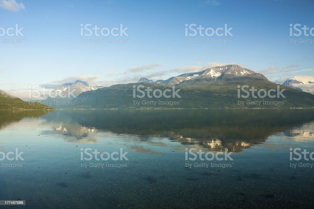 Norwegian fjord and mountains. royalty-free stock photo