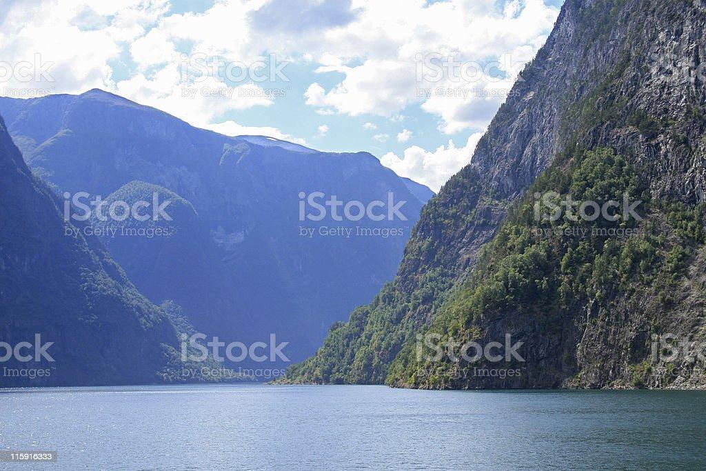 Norwegian fjord stock photo
