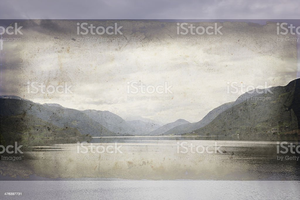 Norwegian fjord . royalty-free stock photo