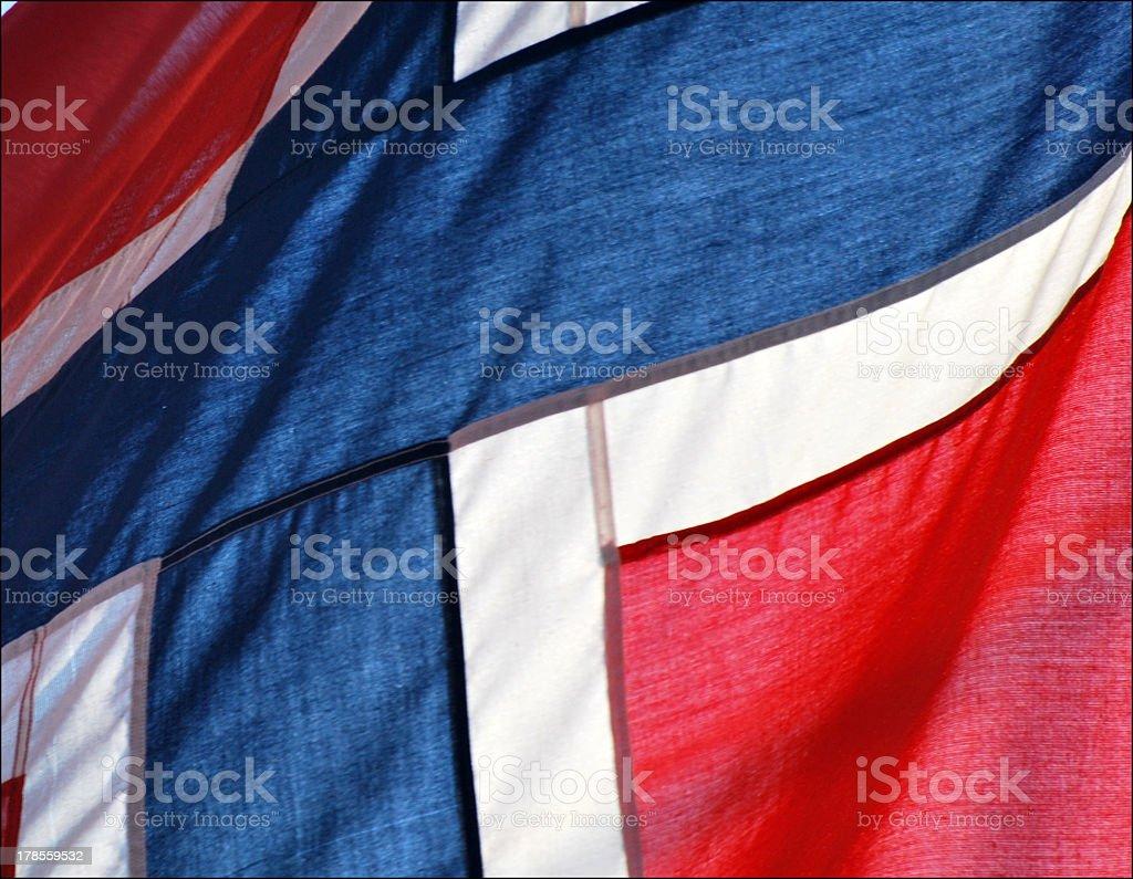 Norwegian flag royalty-free stock photo