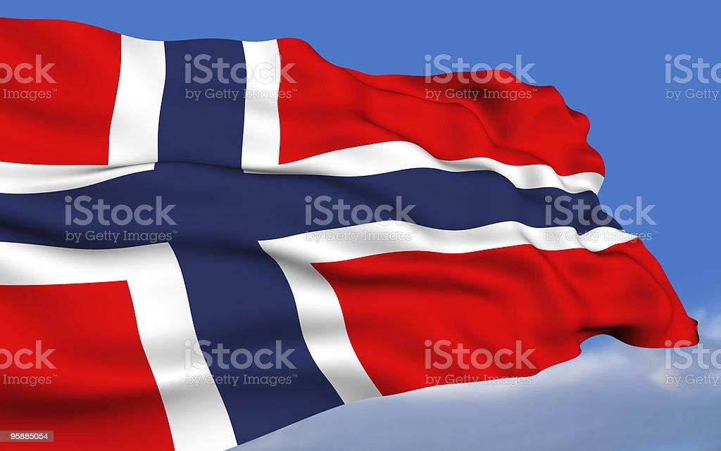 Norwegian Flag stock photo