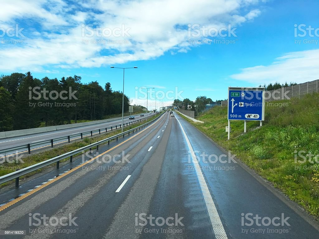 Norwegian autoroute highway photo libre de droits