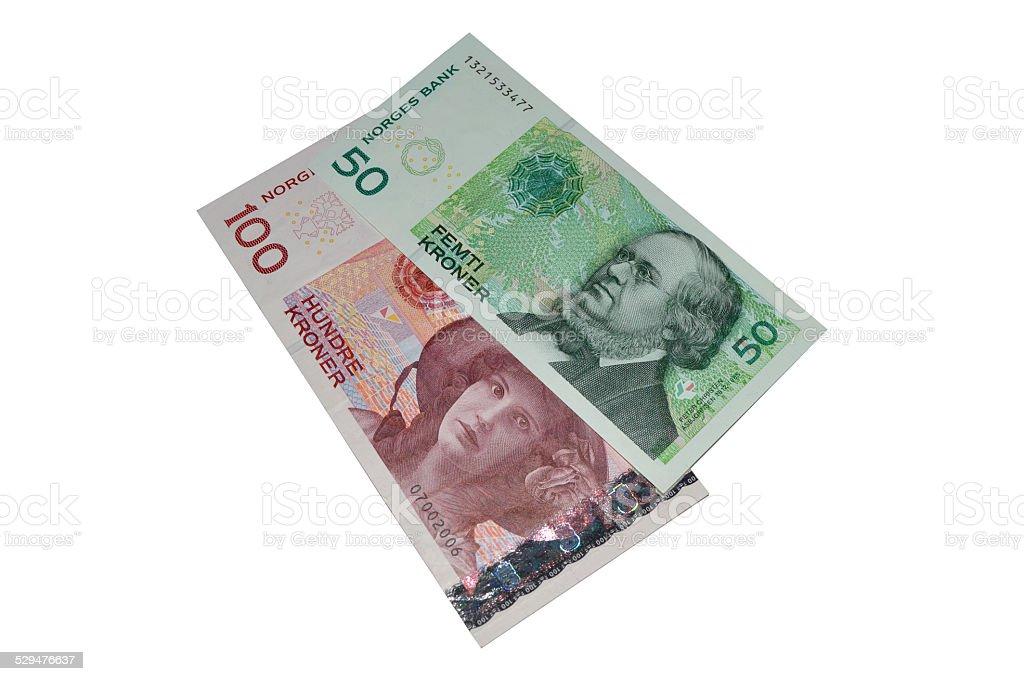 bnaknotes kroner de Noruega foto de stock libre de derechos