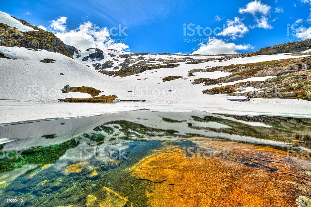 Norwegian lake stock photo