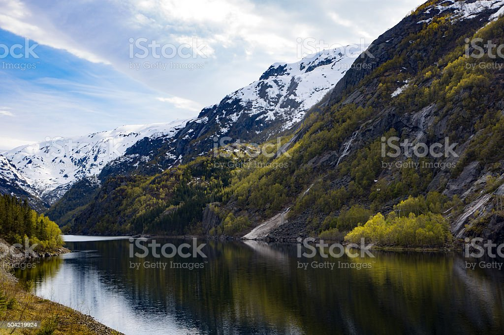 Norwegian landscape, Odda stock photo