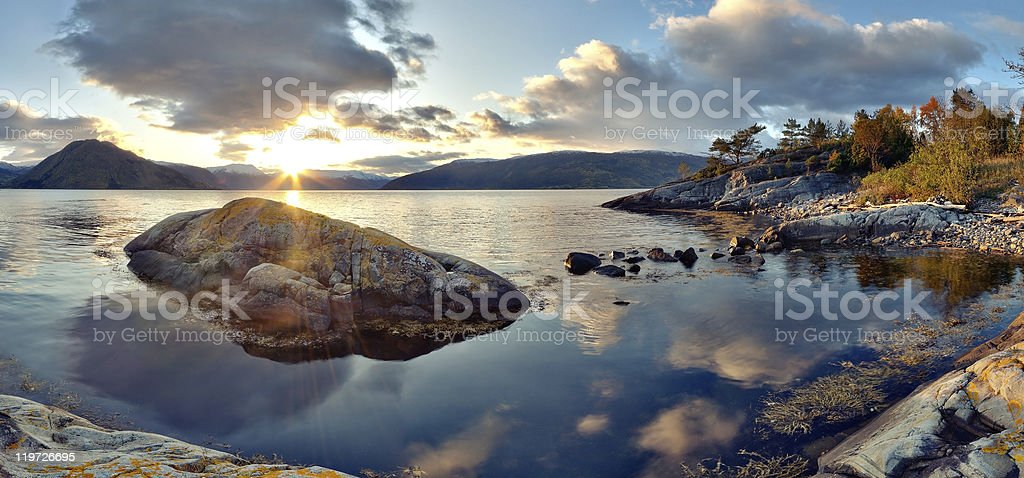 Norwegian landscape royalty-free stock photo