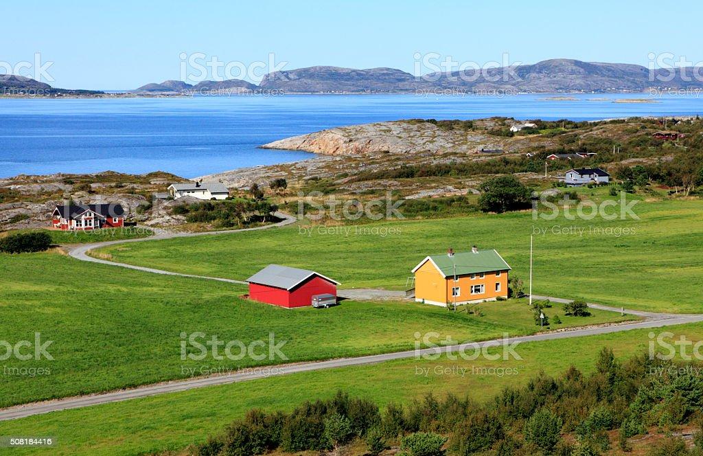 Norwegian landscape stock photo