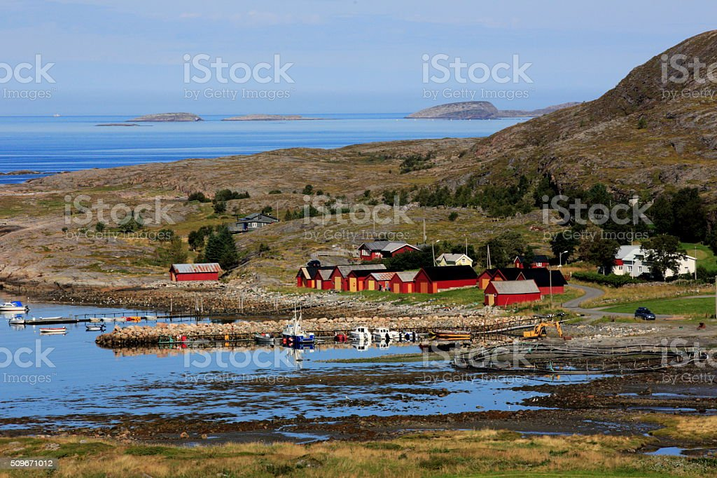Norwegian landscape stock photo