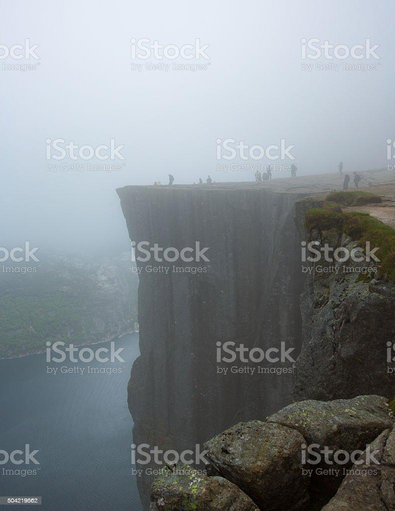 Norwegian landscape, Prekestolen, Norway stock photo