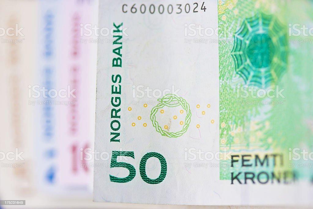 Norwegian money stock photo
