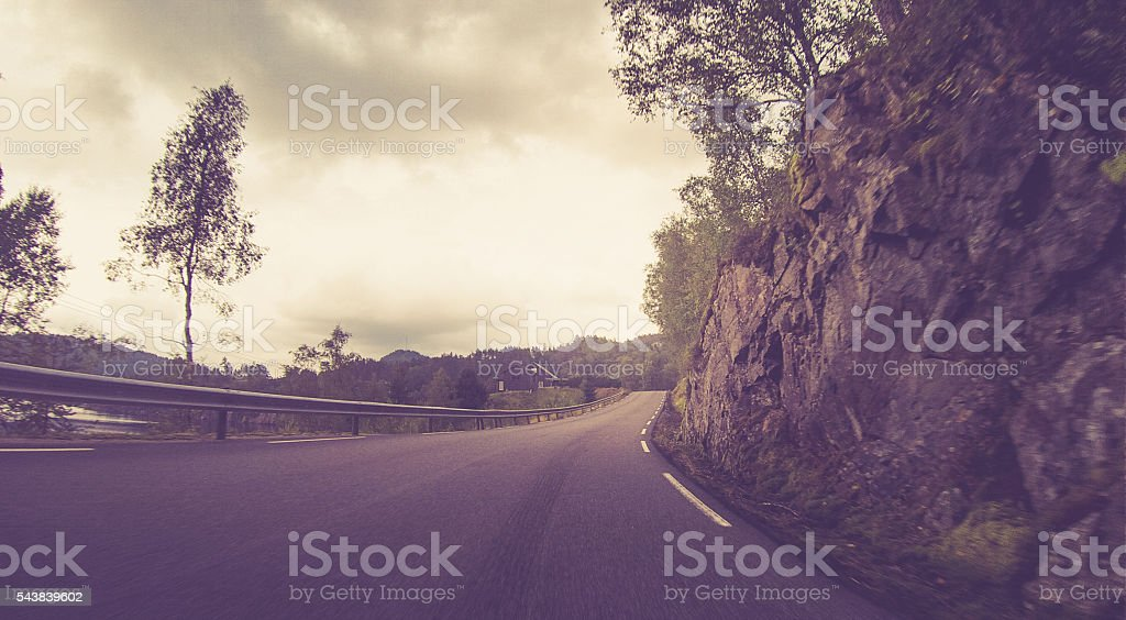 Norwegian Mountain Roads stock photo