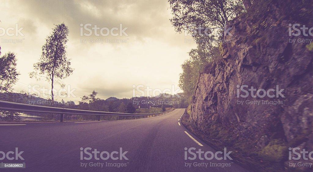 Norwegian Mountain Roads stock photo