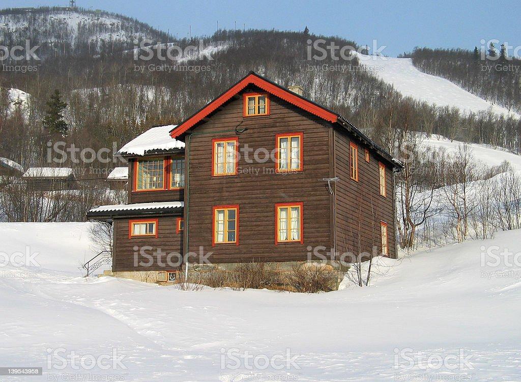Norwegian mountain scene royalty-free stock photo