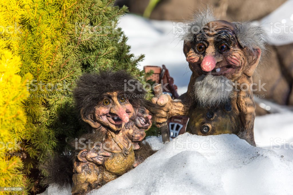 Norwegian Old Trolls. stock photo