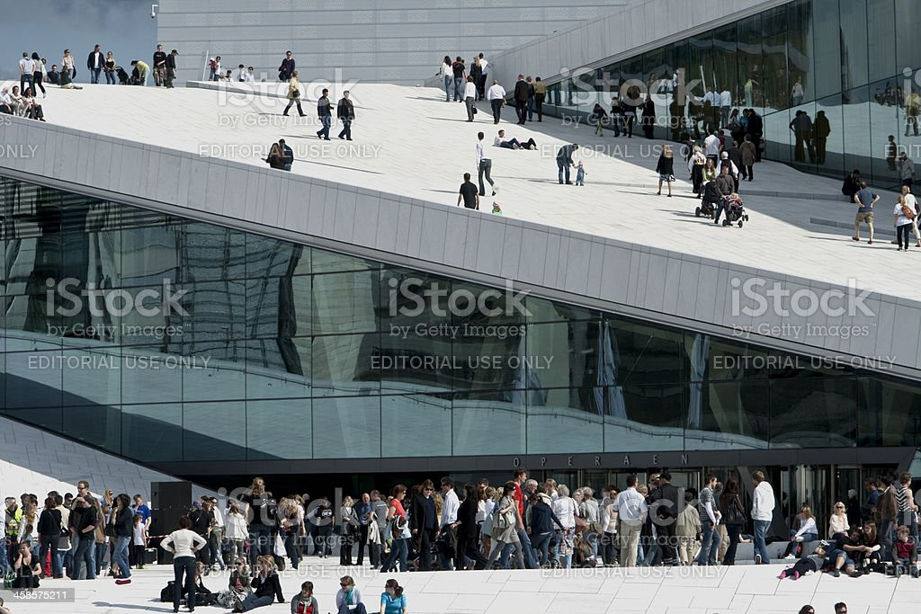 Norwegian Opera and Ballet House. royalty-free stock photo