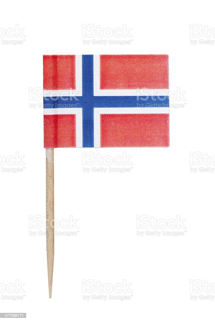 Norwegian paper flag stock photo