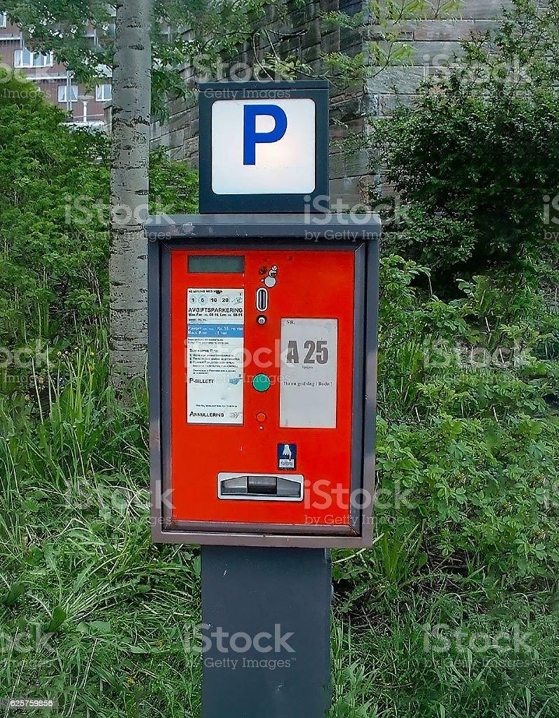 Norwegian Parking Meter stock photo