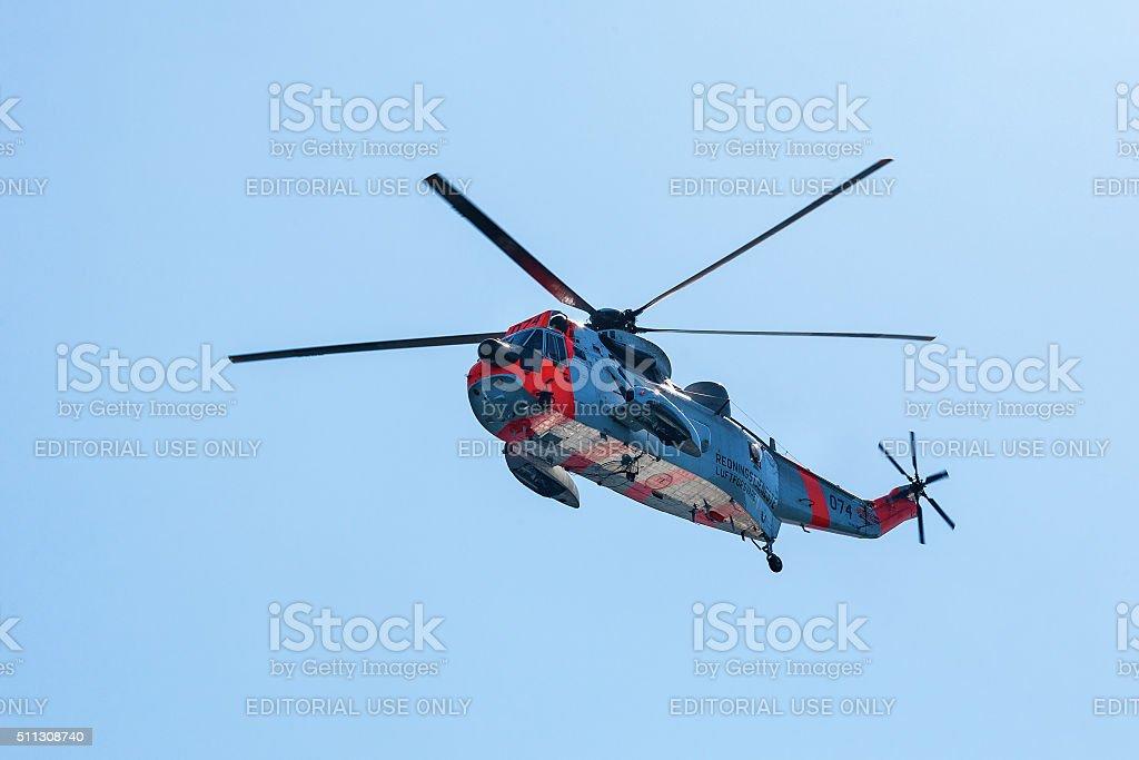 Norwegian Rescue helicopters stock photo