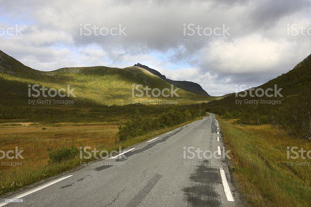 norwegian road royalty-free stock photo