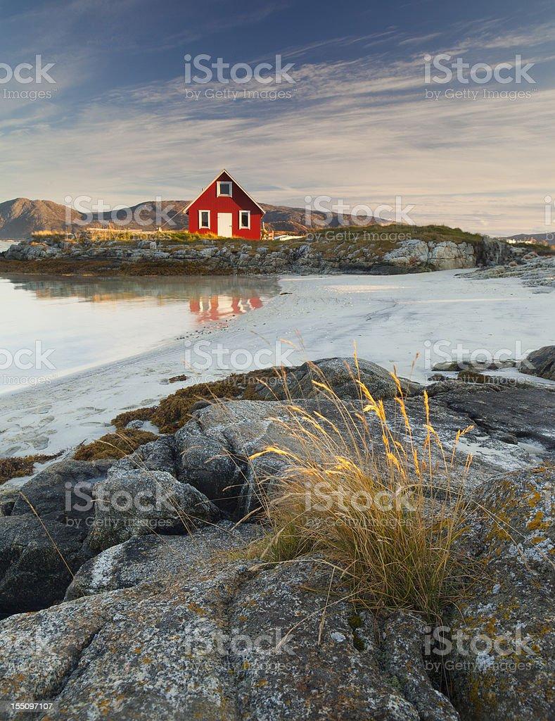Norwegian Rorbu royalty-free stock photo