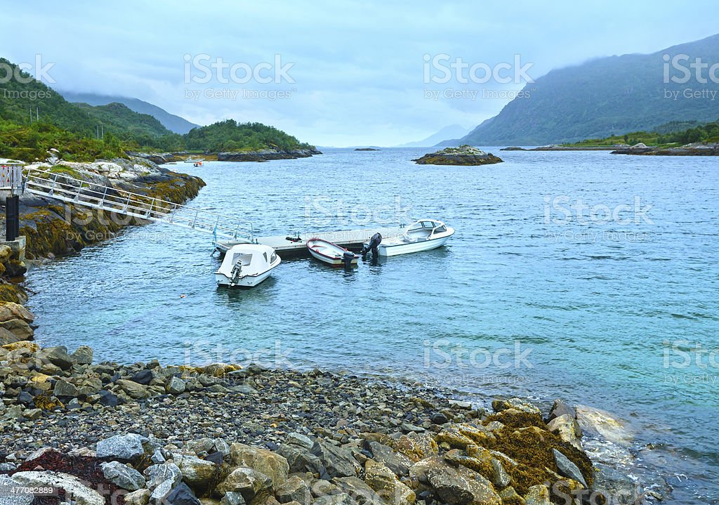Norwegian Sea morning view royalty-free stock photo