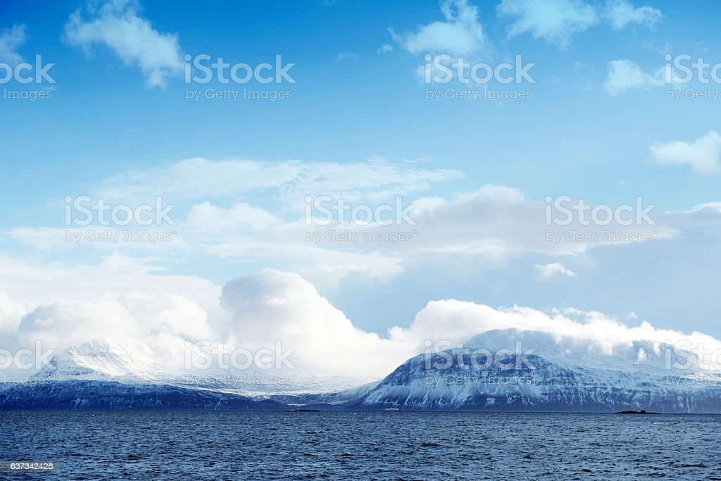 Norwegian Sea, view from Trondenes near Harstad,Norway stock photo
