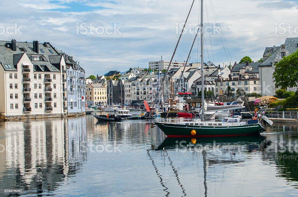 Norwegian Seaport stock photo