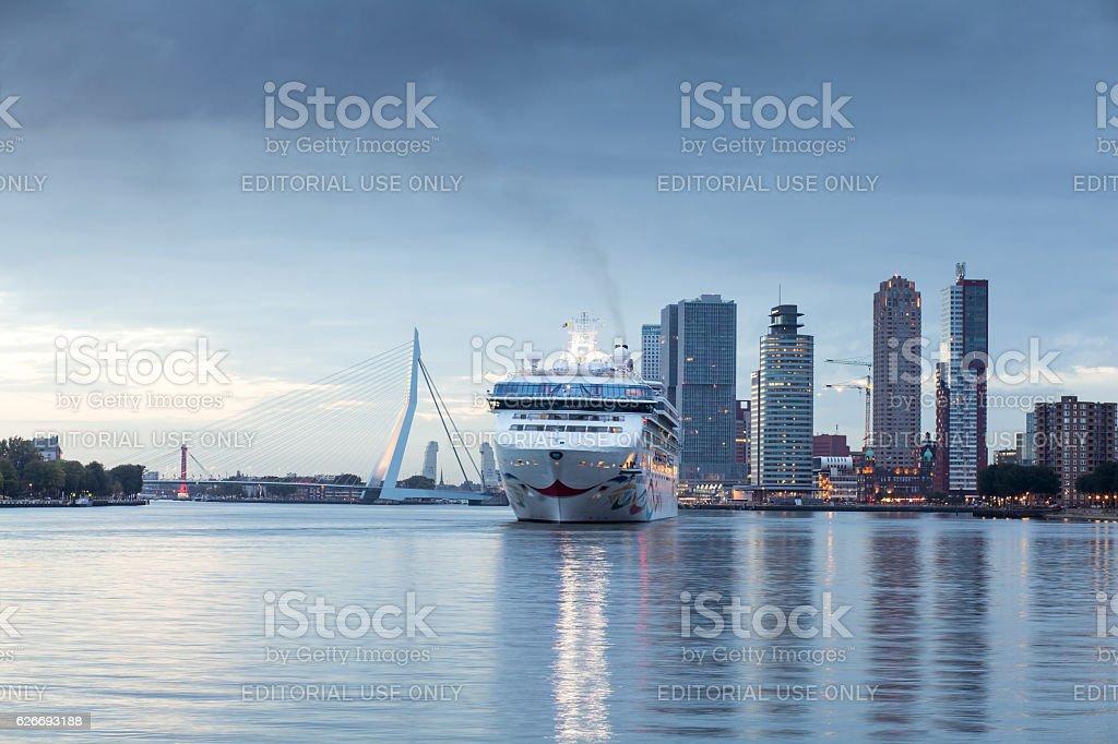 Norwegian Star cruise ship end trip in Rotterdam stock photo