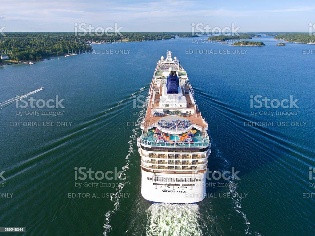 Norwegian Star Cruise Ship stock photo