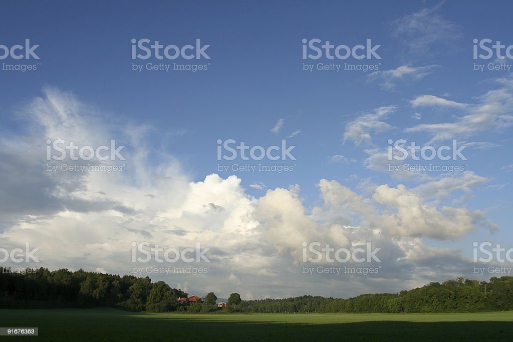 Norwegian summer landscape royalty-free stock photo