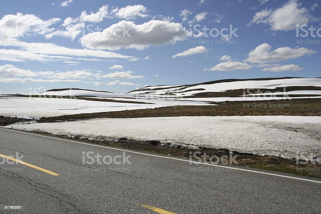 Norwegian Summer Roadtrip stock photo