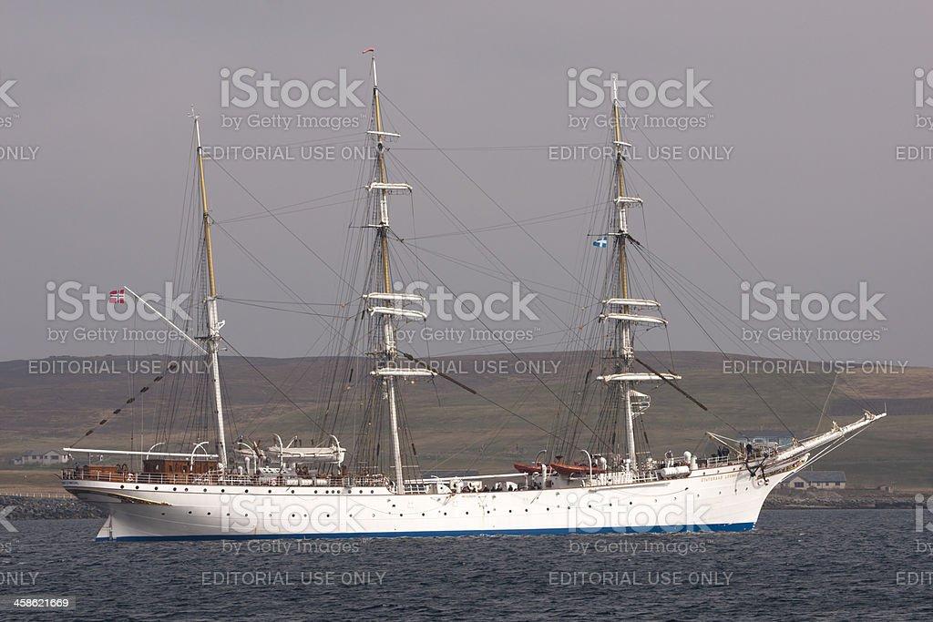 Norwegian tall ship Lerwick royalty-free stock photo
