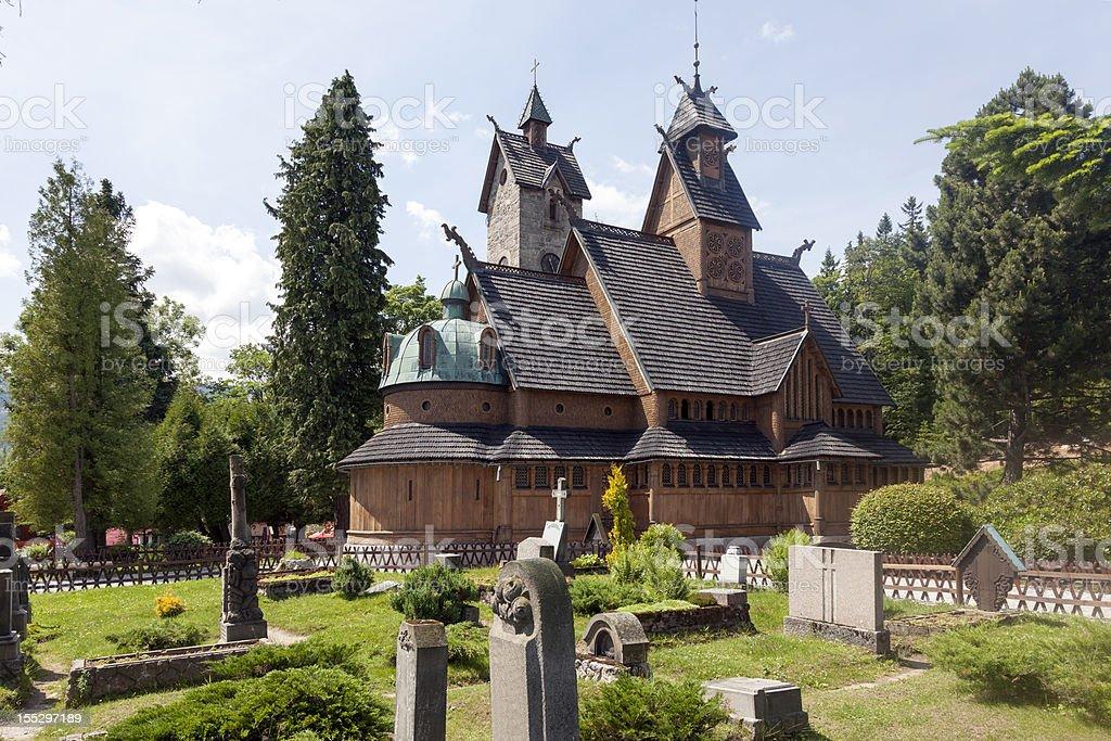 Norwegian temple royalty-free stock photo