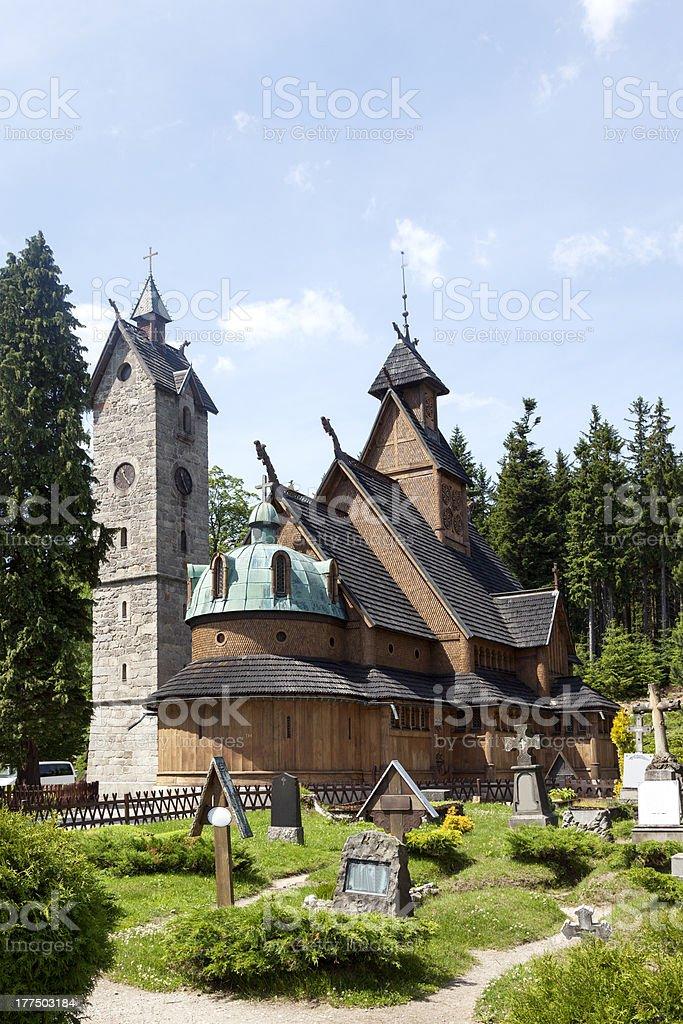 Norwegian temple stock photo