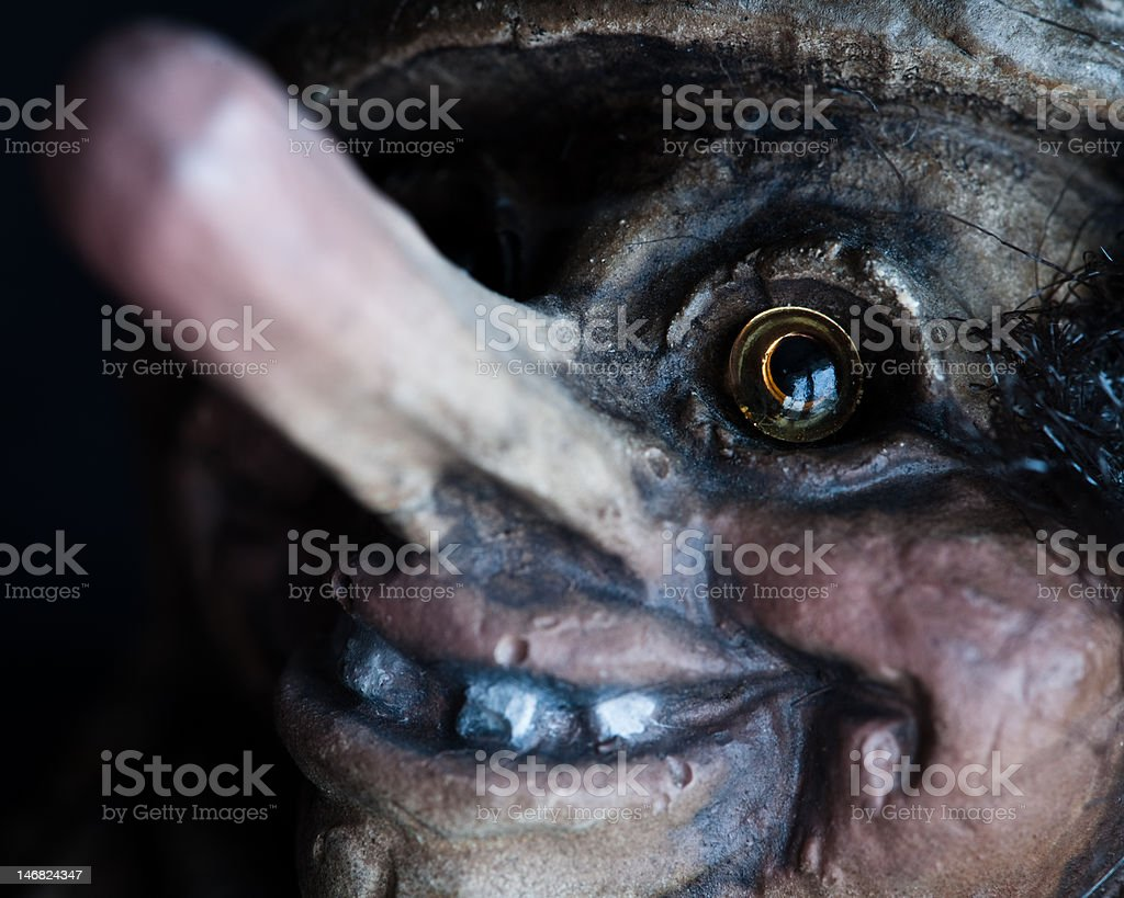 Norwegian troll close-up portrait stock photo