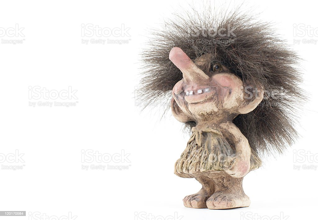 Norwegian Troll Figure stock photo