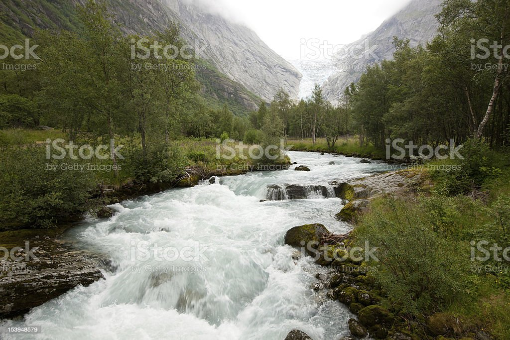 Norwegian waterfall royalty-free stock photo