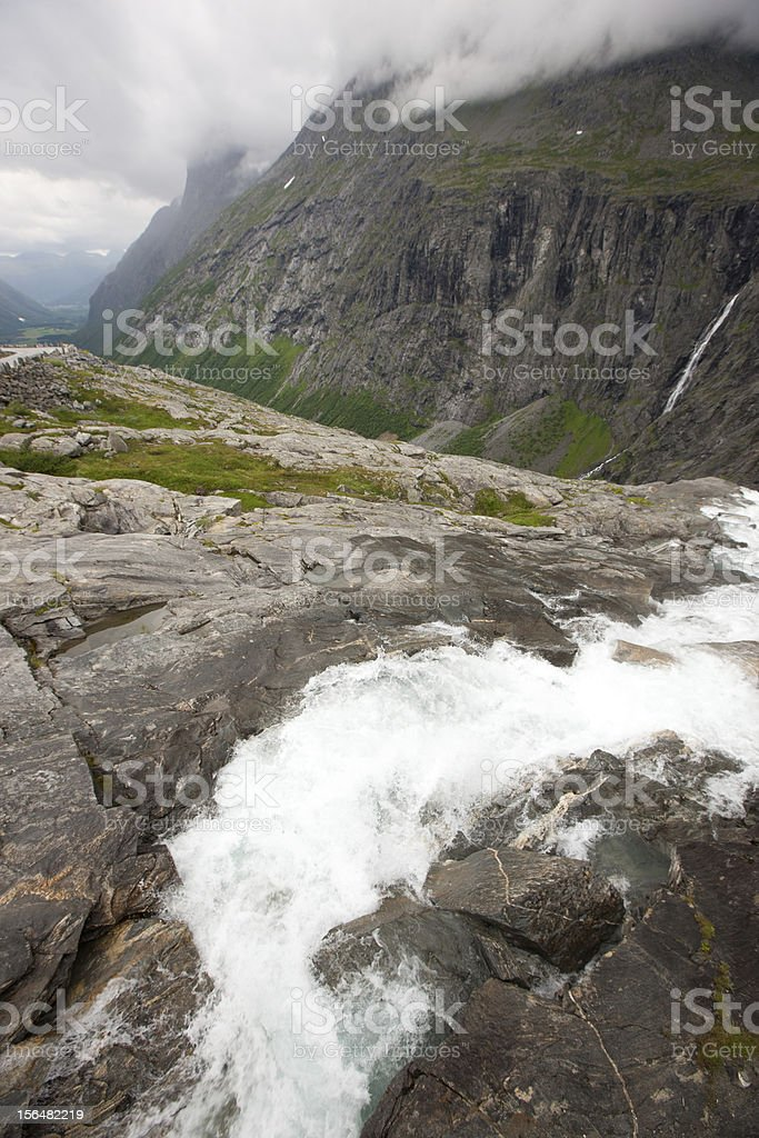 Norwegian waterfall royalty-free stock photo