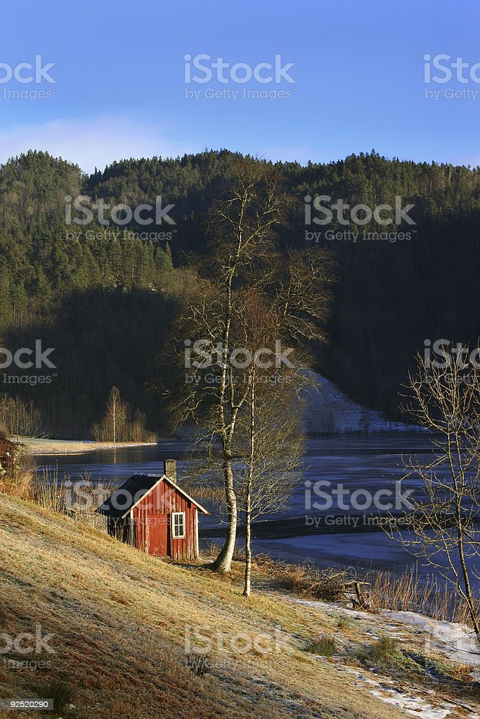Norwegian Wood royalty-free stock photo