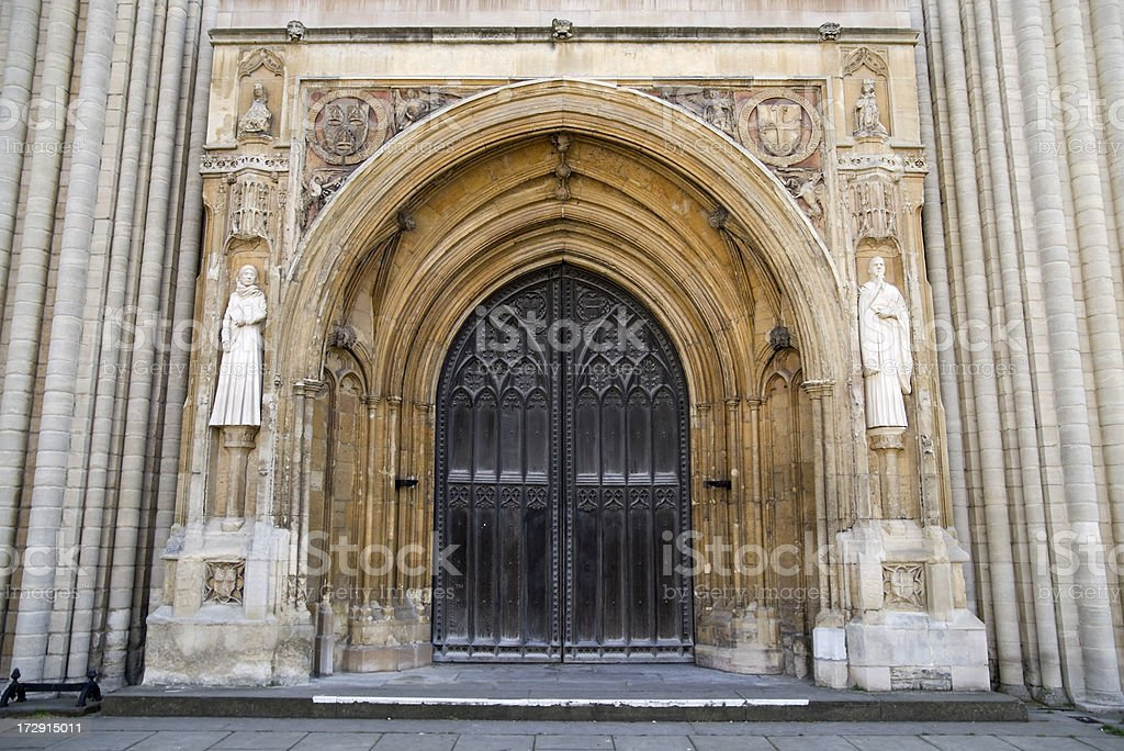 Norwich Cathedral doors stock photo
