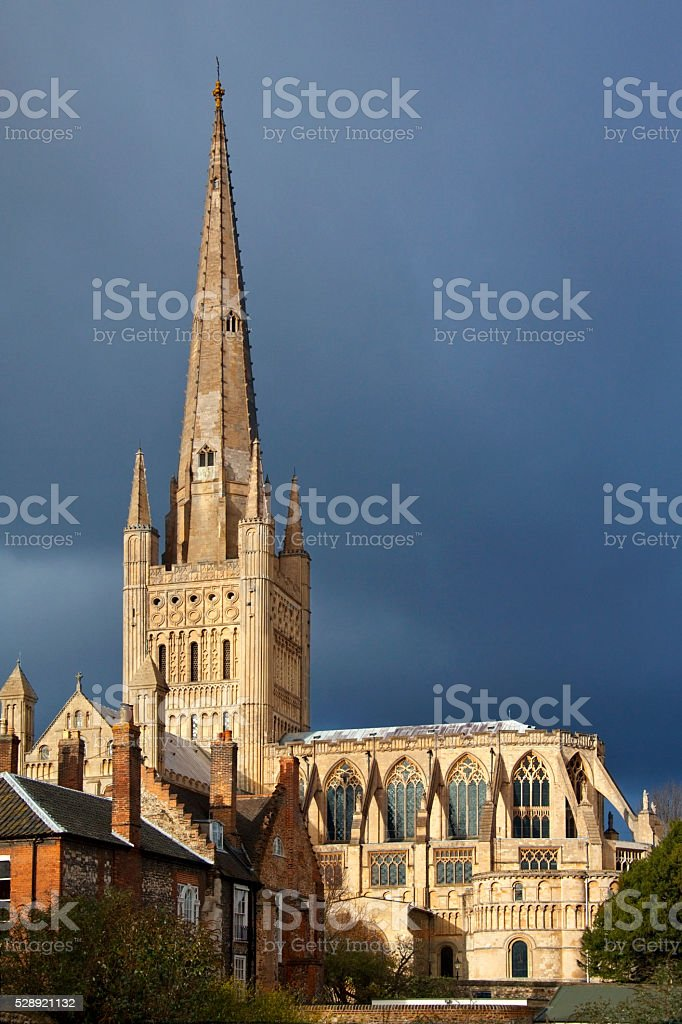 Norwich Cathedral - United Kingdom stock photo