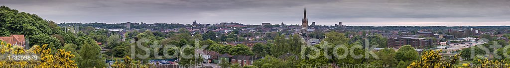 Norwich City Cityscape Panoramic stock photo