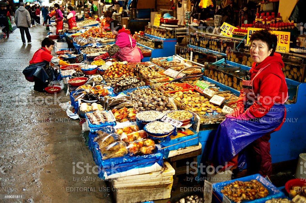 Noryangjin Fisheries Wholesale Market royalty-free stock photo
